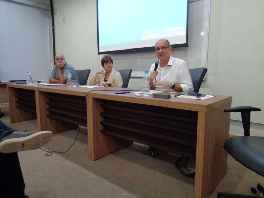 De derecha a izquierda: Alcides Cardoso, Cristina Batalha y Marco Antonio Coutinho Jorge