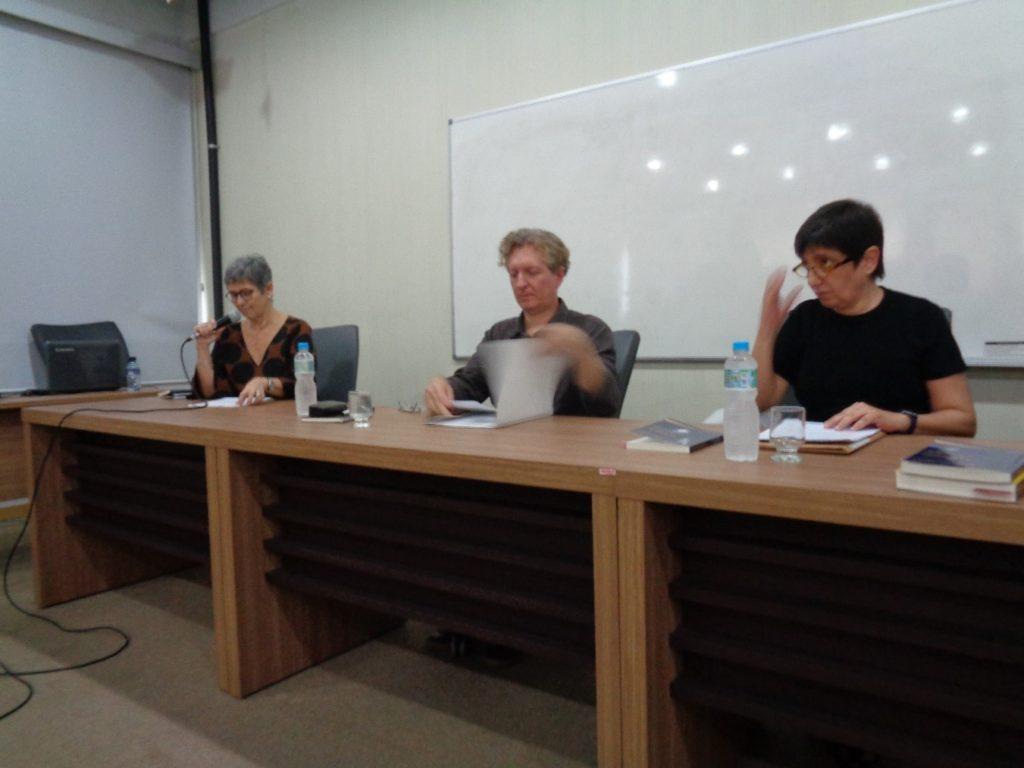 De izquierda a derecha: Ana Chiara , Marcos Siscar y Cláudia Perrone-Moisés.