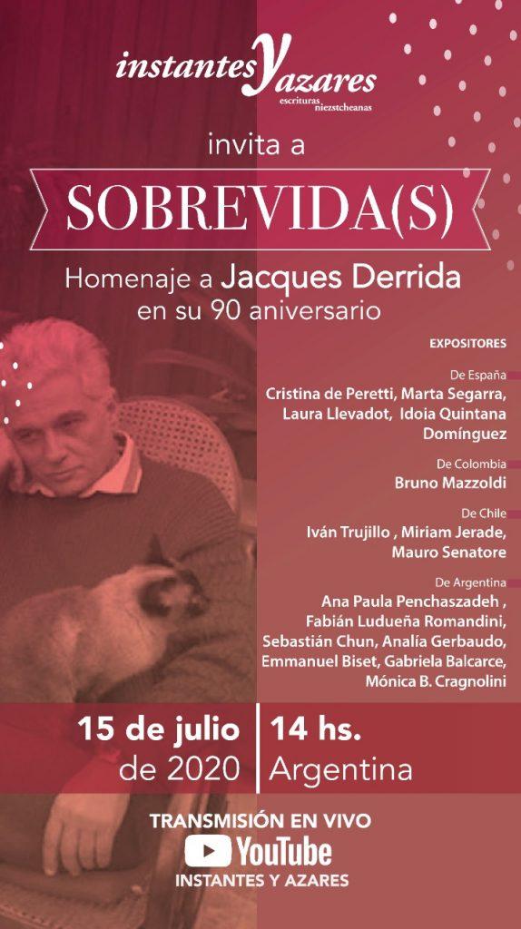 Sobrevida(s) Homenaje a Derrida en su 90 aniversario